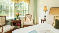 Lyman Room bed and sitting area at our Kennebunkport bed and breakfast