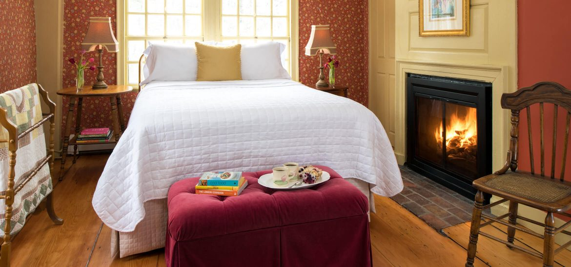 The Bourne Room bed at our Kennebunkport B&B