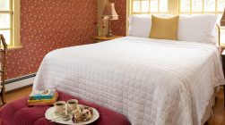 One of the best places to stay in Kennebunkport - the Bourne Room bed