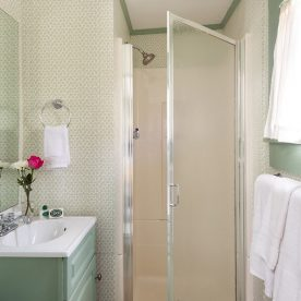 Lyman Room bathroom at our romantic B&B in Kennebunkport, Maine
