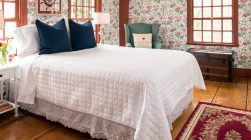 Kingsbury Room bed at our romantic Kennebunkport bed and breakfast