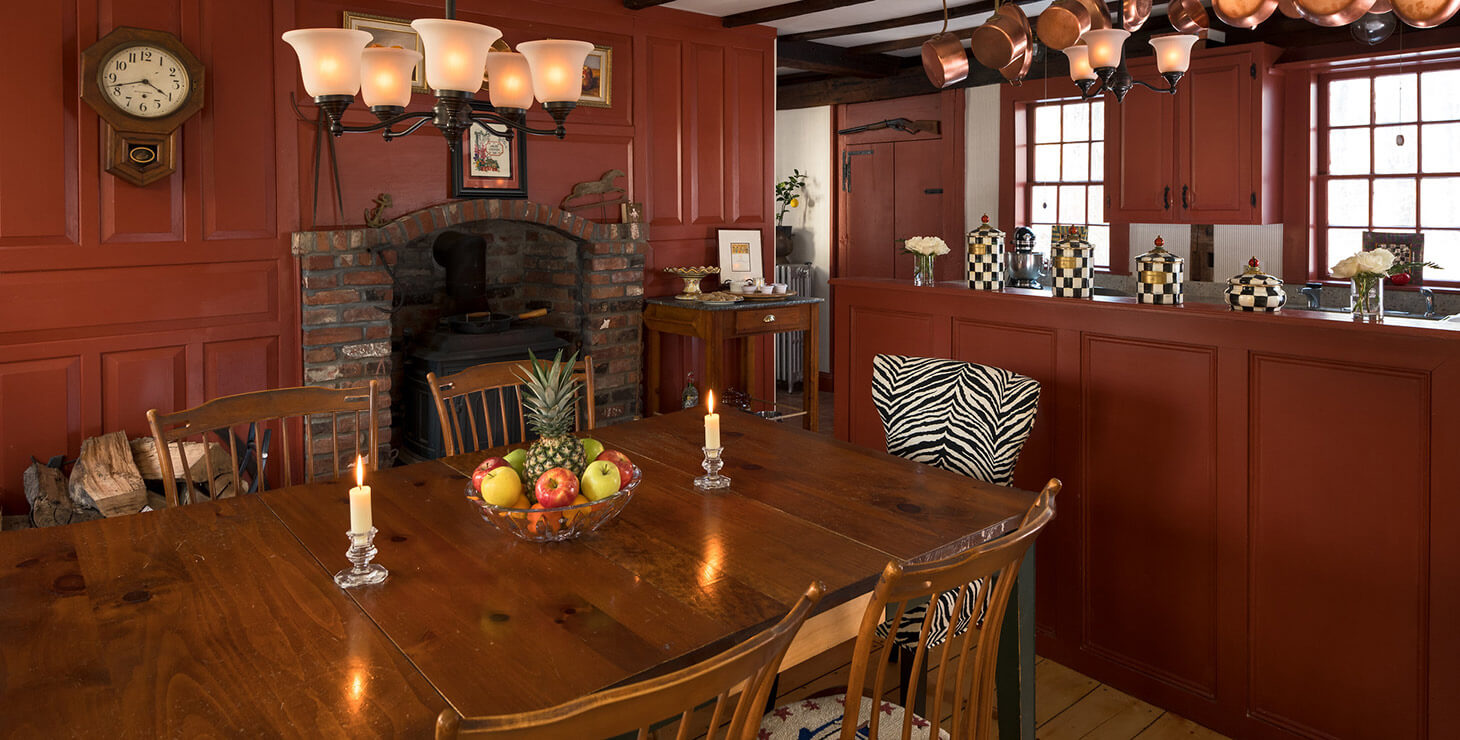 The kitchen in our Kennebunkport, Maine bed and breakfast