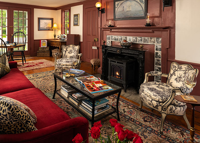 Living room at our Kennebunkport, Maine B&B