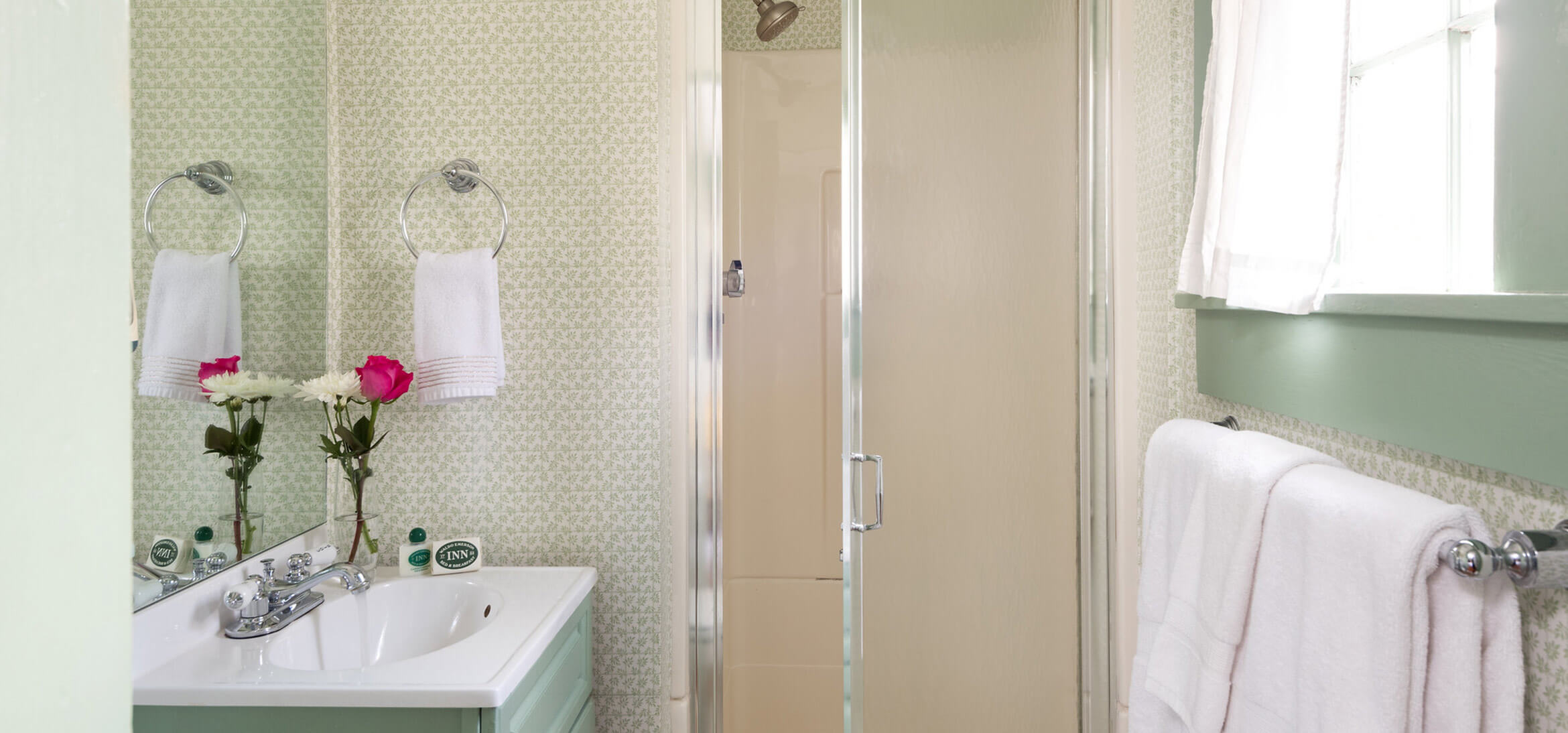 The private bathroom in the Lyman Room at our Kennebunkport B&B