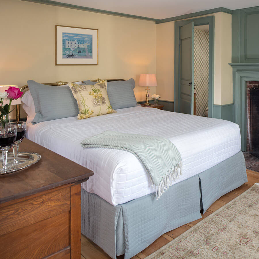 Where to Stay in Kennebunkport, Maine - Ralph's Library Room at our B&B