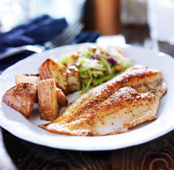 Seafood dinner at a top Kennebunkport restaurant