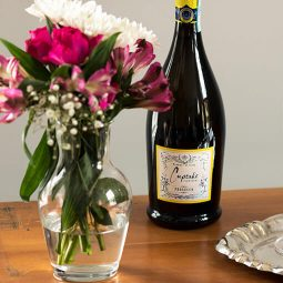 Wine and flowers at our Kennebunkport B&B