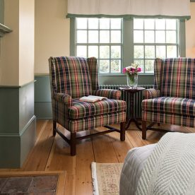 Kennebunkport, Maine bed and breakfast - Chairs in Ralph's Library