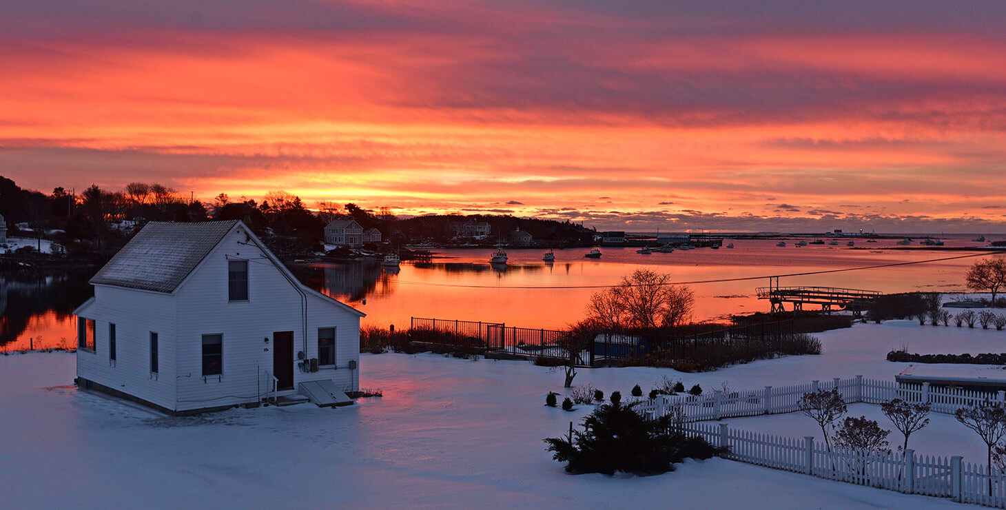 Winter Sunrise in Kennebunkport, Maine