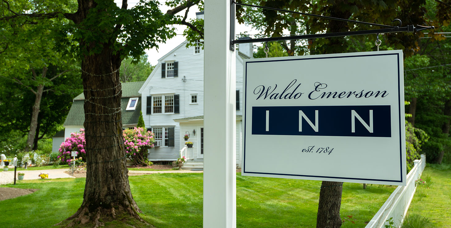Sign in front of our Kennebunkport, Maine B&B