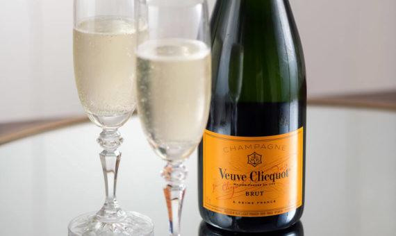 Bottle of Veuve Clicquot champagne