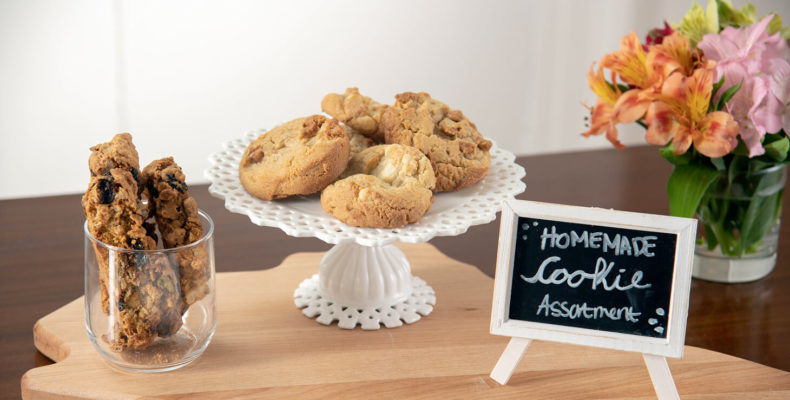 platter of homemade cookies for guests to enjoy